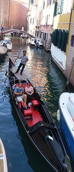 exploring venice gondola
