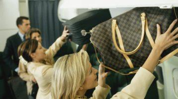 Kudos to flight attendants who catch the dreaded bin hog